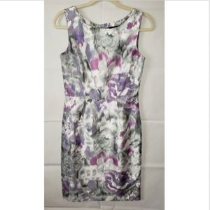 Ellen Tracy Floral Sleeveless Sheath Dress